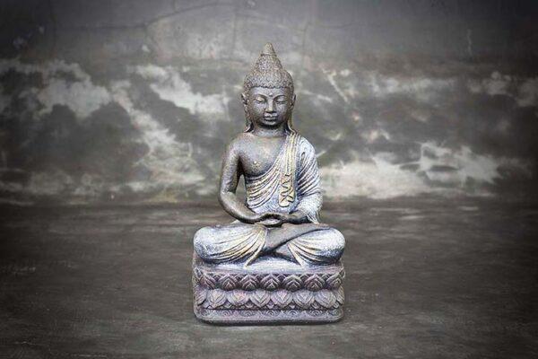 sitting buddha on lotus