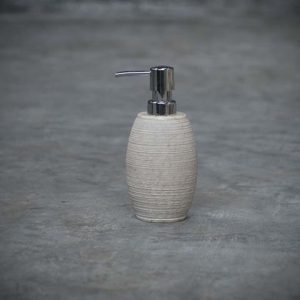 rough oval soap dispenser
