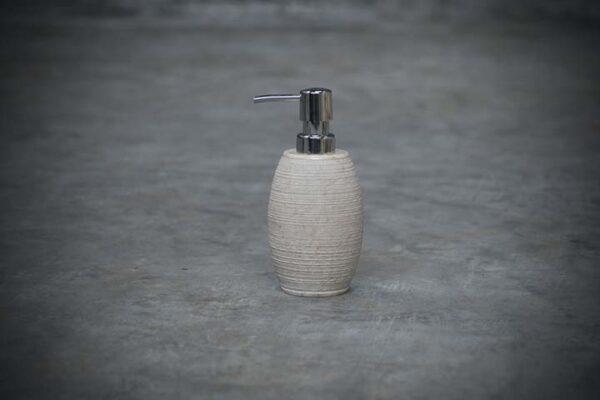 rough oval soap dispenser
