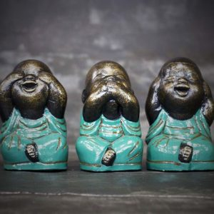 Colored Blind-Deaf-Mute Buddhas