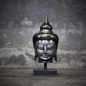 buddha head on stand