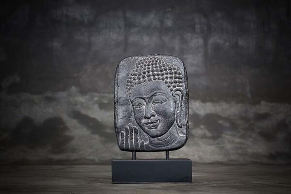 buddha head relief