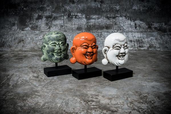happy buddha on stand