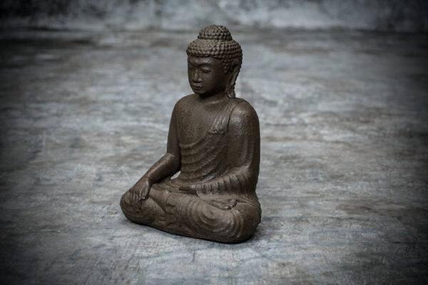 sitting buddha brown