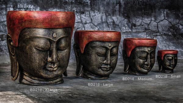 buddha head flower pot