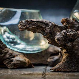 Glass bowl Natural Wood