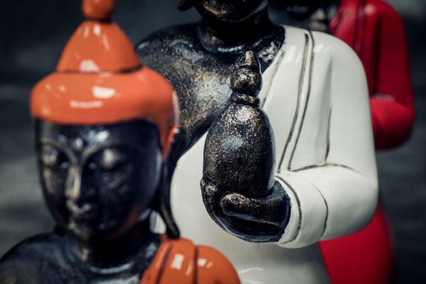 Stonework Asia Sitting Buddha holding bowl