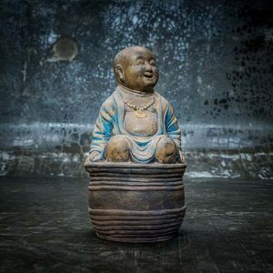 laughing buddha in bowl