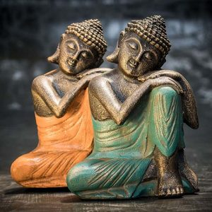 Buddha hand on knee