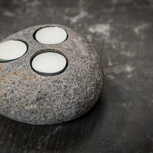 riverstone candle holder