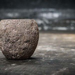 River stone small bowl