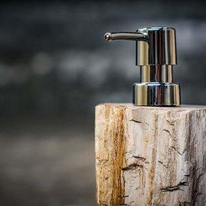 Petrified Wood Soap Dispenser