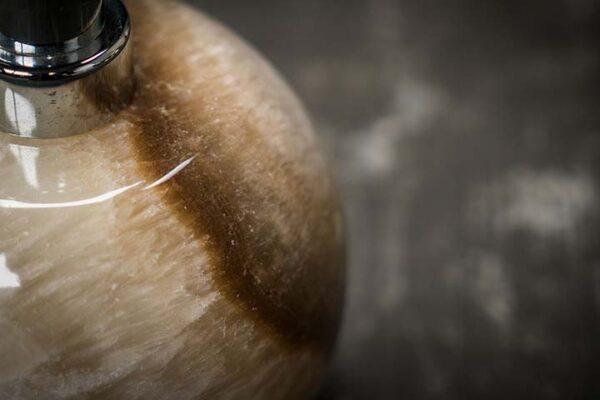 Sphere shaped Onyx Soap Dispenser
