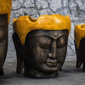 buddha head pot doff