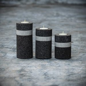 lava stone candle holder