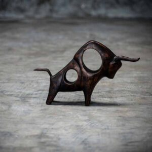 Abstract bull statue