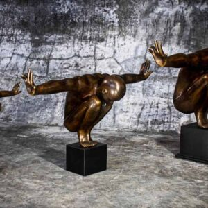 Bronze man statue