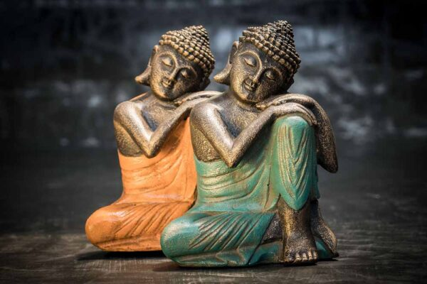 Buddha resting on his knee