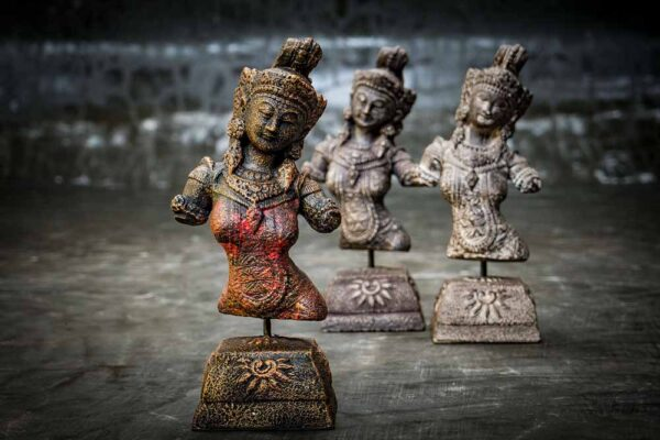 Hindu Goddess dewi sri on stand