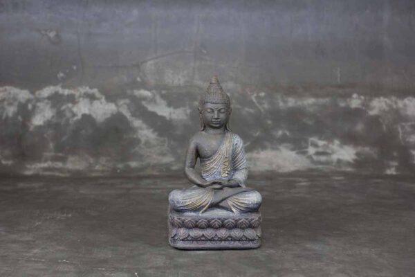 Sitting Buddha folded hands