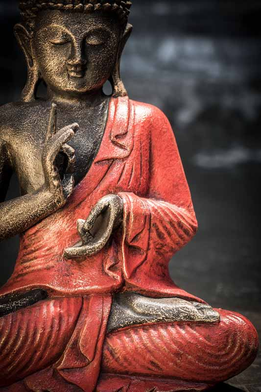 sitting buddha hand gesture