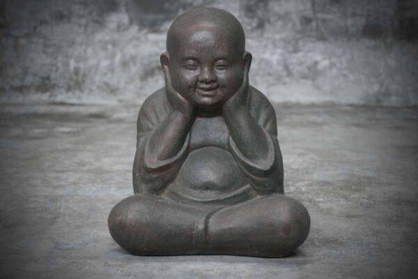 sitting Buddha head on hands