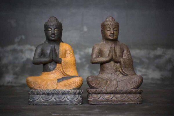 sitting Buddha with hands in prayer