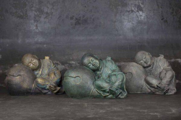 Sleeping Buddha on sphere