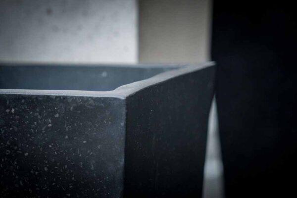 elongate tapper set squared details black