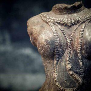 Female headless torso details chest