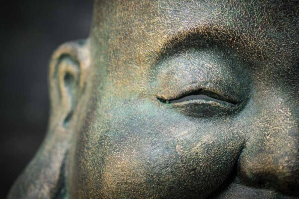 Stone work products floating chubby buddha head details eye