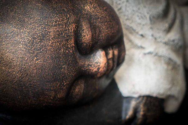 Stonework products little buddha on elephant details head white