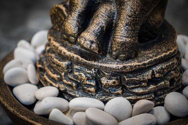sitting elephant stone arrangement details stones