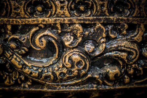 Ganesha table fountain details ornament