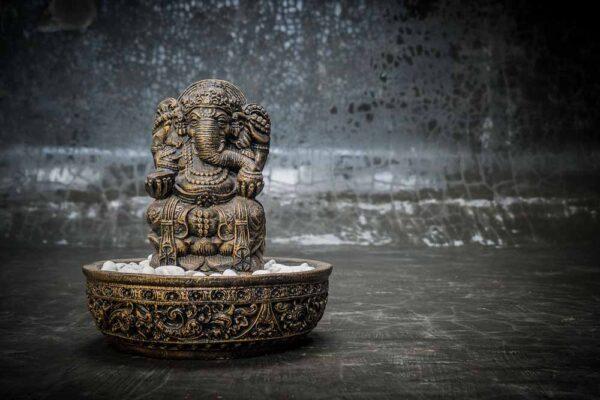 Ganesha table fountain total view