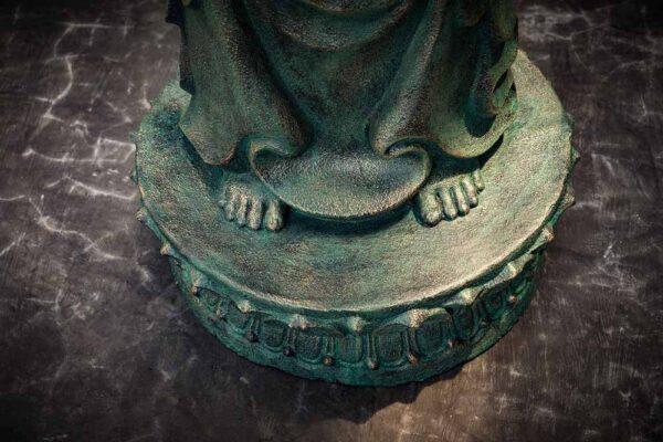 standing buddha hands up details base