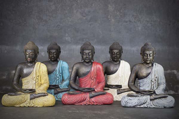 Sitting Buddha Colorful