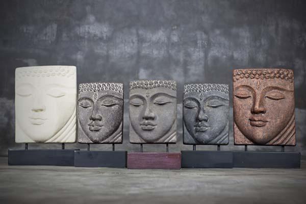 Head Buddha Table Relief