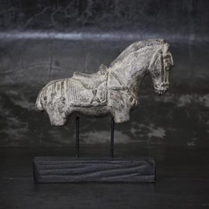 BD120 Horse Statue on Stand
