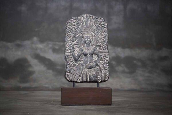 Hindu Godness dewi sri table releif