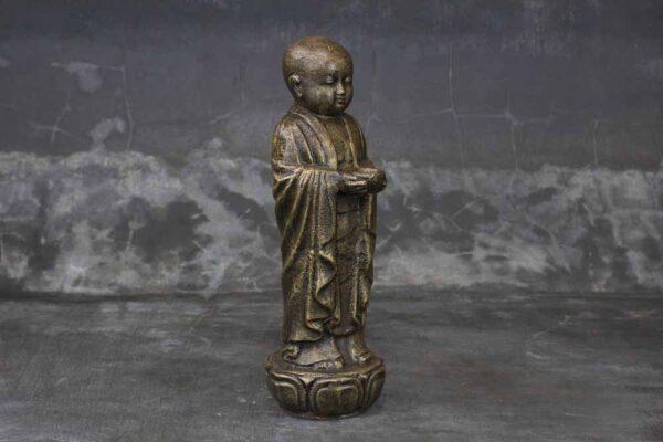 Monk standing with bowl